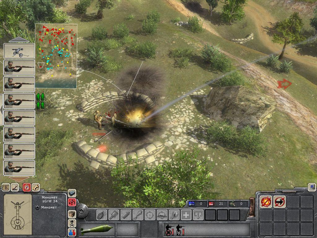 Old screen image ufo:aftermath mod for men of war: assault squad.