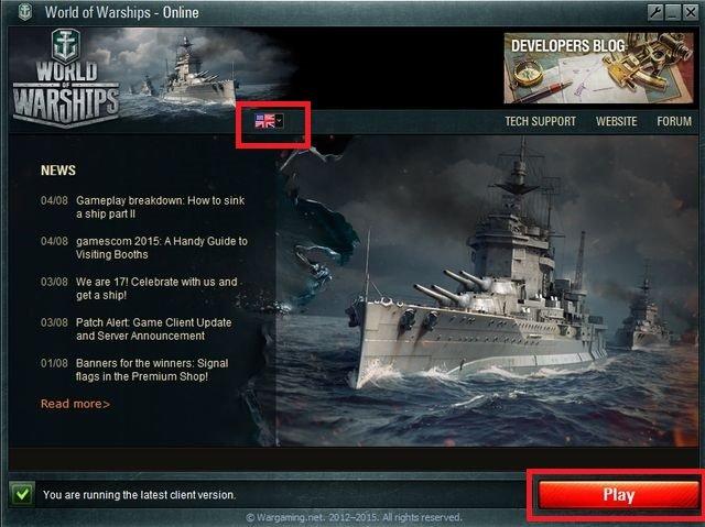 World of Warships скриншот клиента